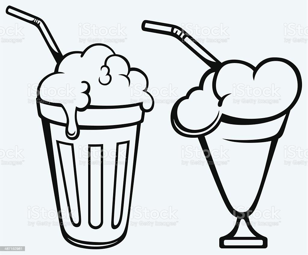 Milk shake vector art illustration