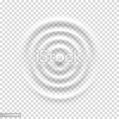 Milk splash circle waves, isolated on white background.