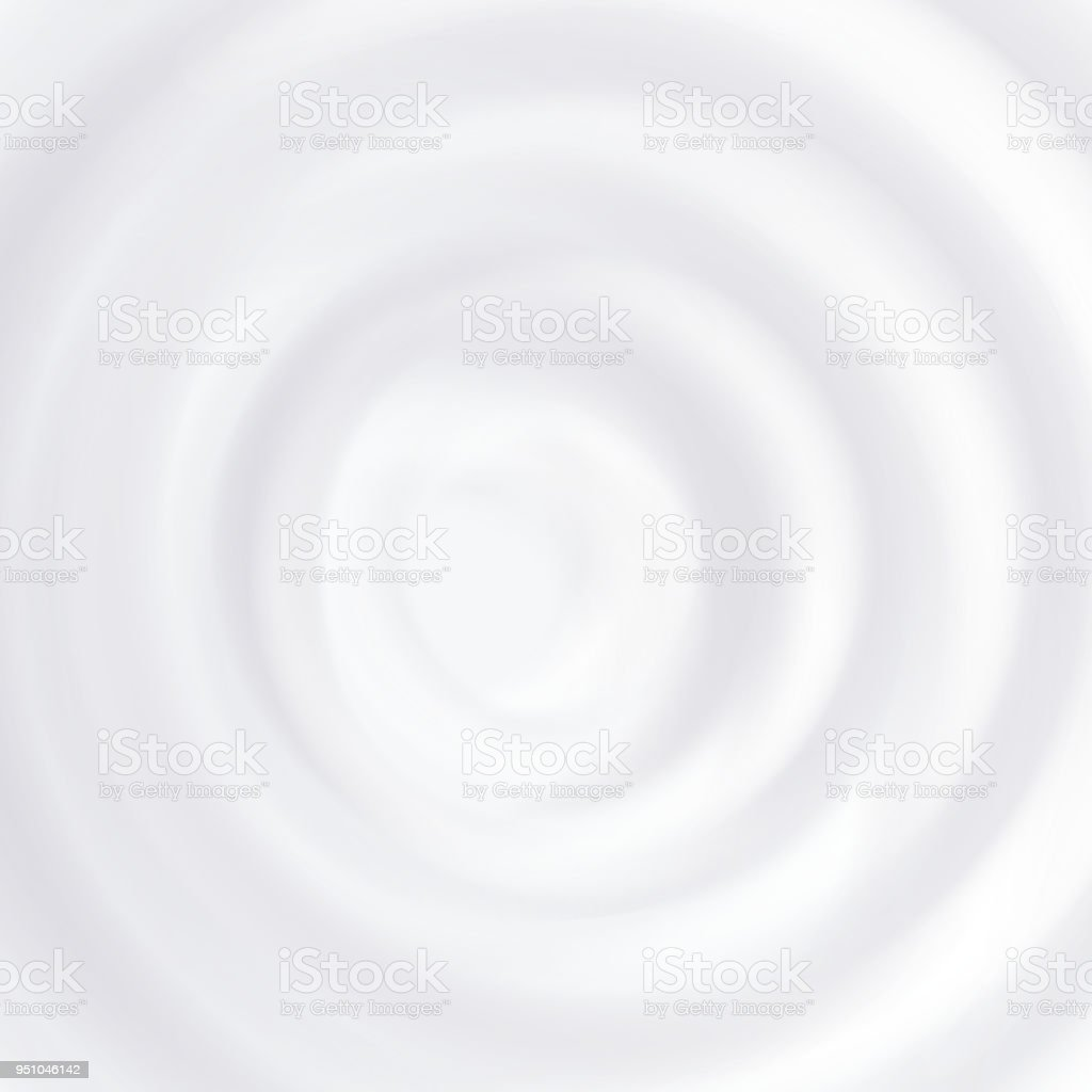 Milk Splash Vector. Clean Circle Waves. Curved Surface. Close Up. Realistic Illustration vector art illustration