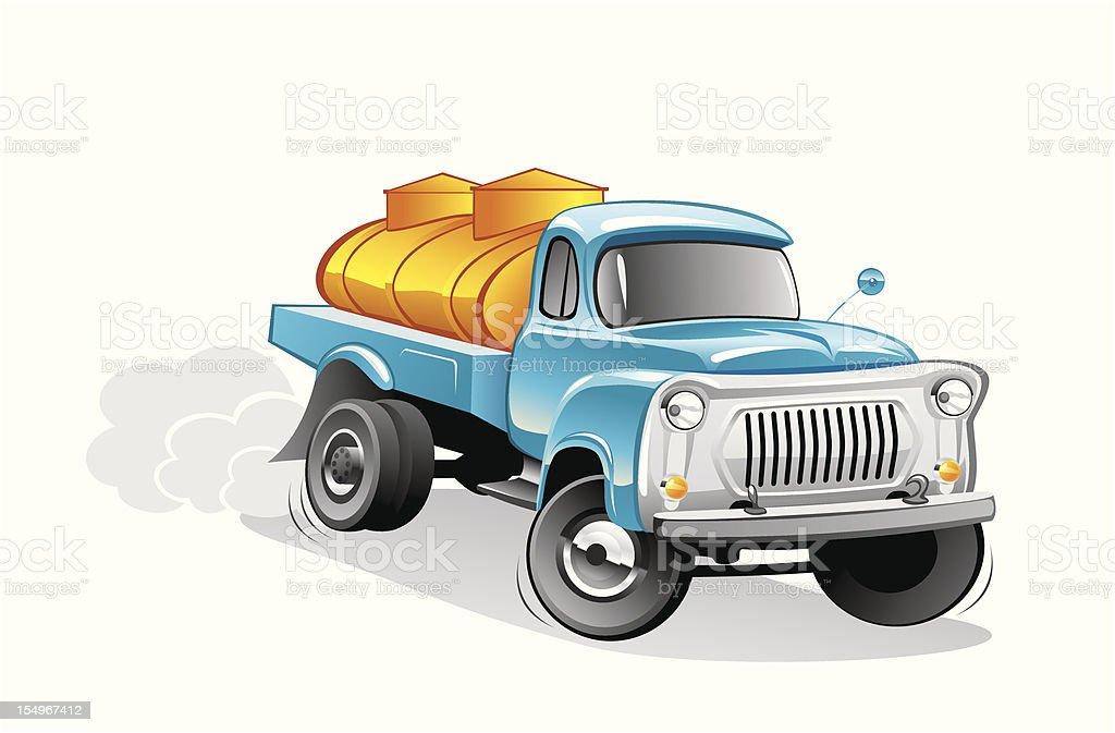 milk tanker royalty-free stock vector art
