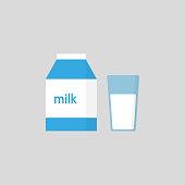 Milk. Vector icon illustration flat design