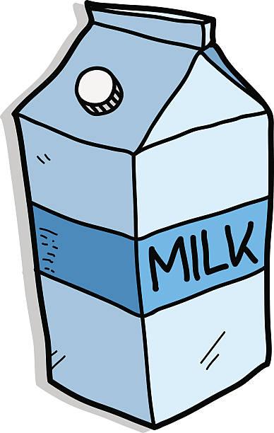 Royalty Free Carton Of Milk Clip Art, Vector Images