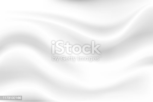 istock Milk white wave background Looks soft, like a swaying white cloth. 1173132166