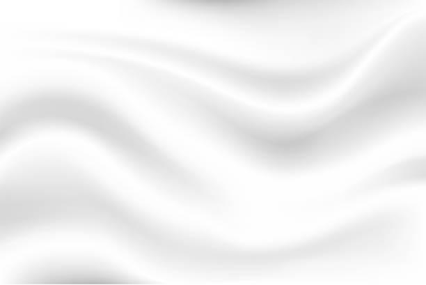 stockillustraties, clipart, cartoons en iconen met melk witte golf achtergrond ziet er zacht uit, zoals een wuivende witte doek. - zijde