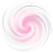 Milk, Yogurt, Cream, cosmetics background. White swirl, pink center .