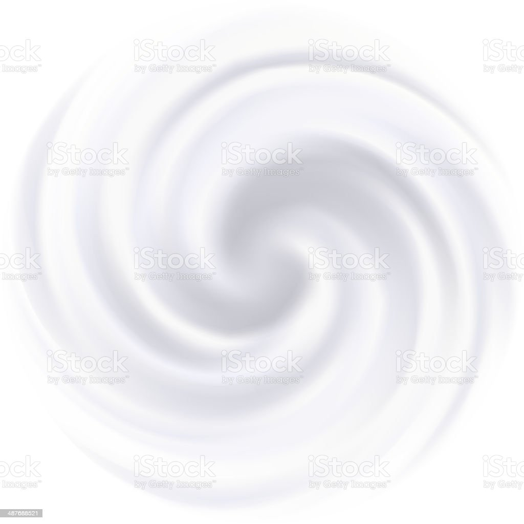 Milk, Yogurt, Cream or cosmetics product Curl background. White swirl. vector art illustration