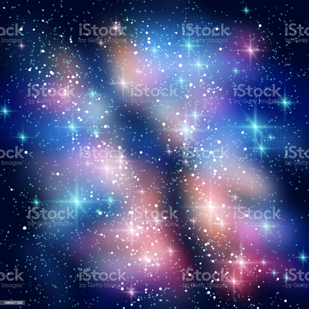 Milky Way Galaxy in Black Night Sky royalty-free milky way galaxy in black night sky stock vector art & more images of abstract