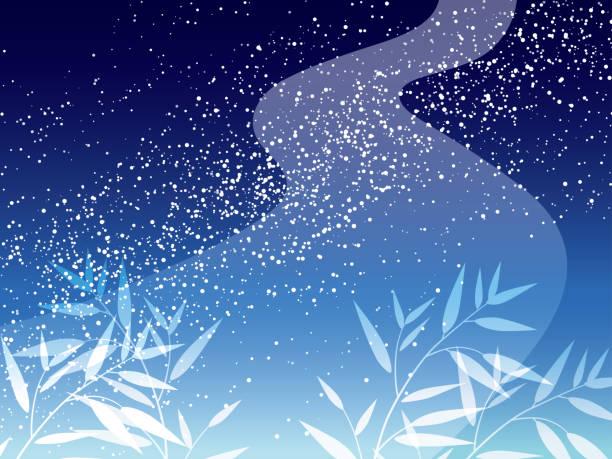 日本の七夕の天の川のイラスト。 - 七夕点のイラスト素材/クリップアート素材/マンガ素材/アイコン素材