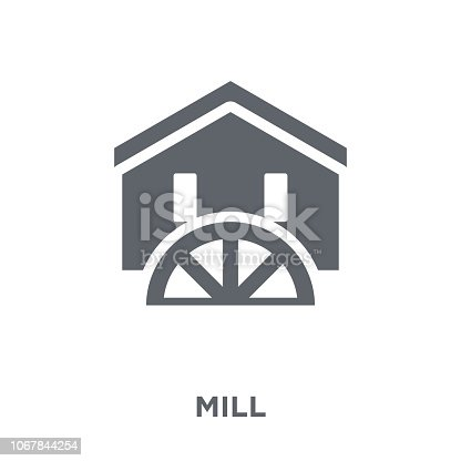 Mill icon. Mill design concept from Agriculture, Farming and Gardening collection. Simple element vector illustration on white background.