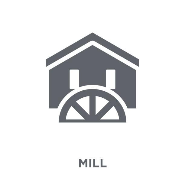 농업, 농업 및 원 예 컬렉션에서에서 밀 아이콘입니다. - 제조 공장 stock illustrations