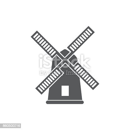 Mill icon vector on the white background