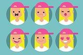 Millennial blonde girl profile pics