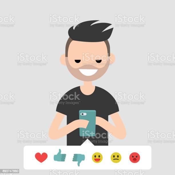 Millennial conceptual illustration young character picking up the vector id893747880?b=1&k=6&m=893747880&s=612x612&h= 7puhaqtoo ctizp0gumur0farornrt218oajggt9b4=