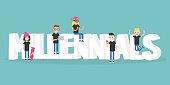 Millennials illustrated sign