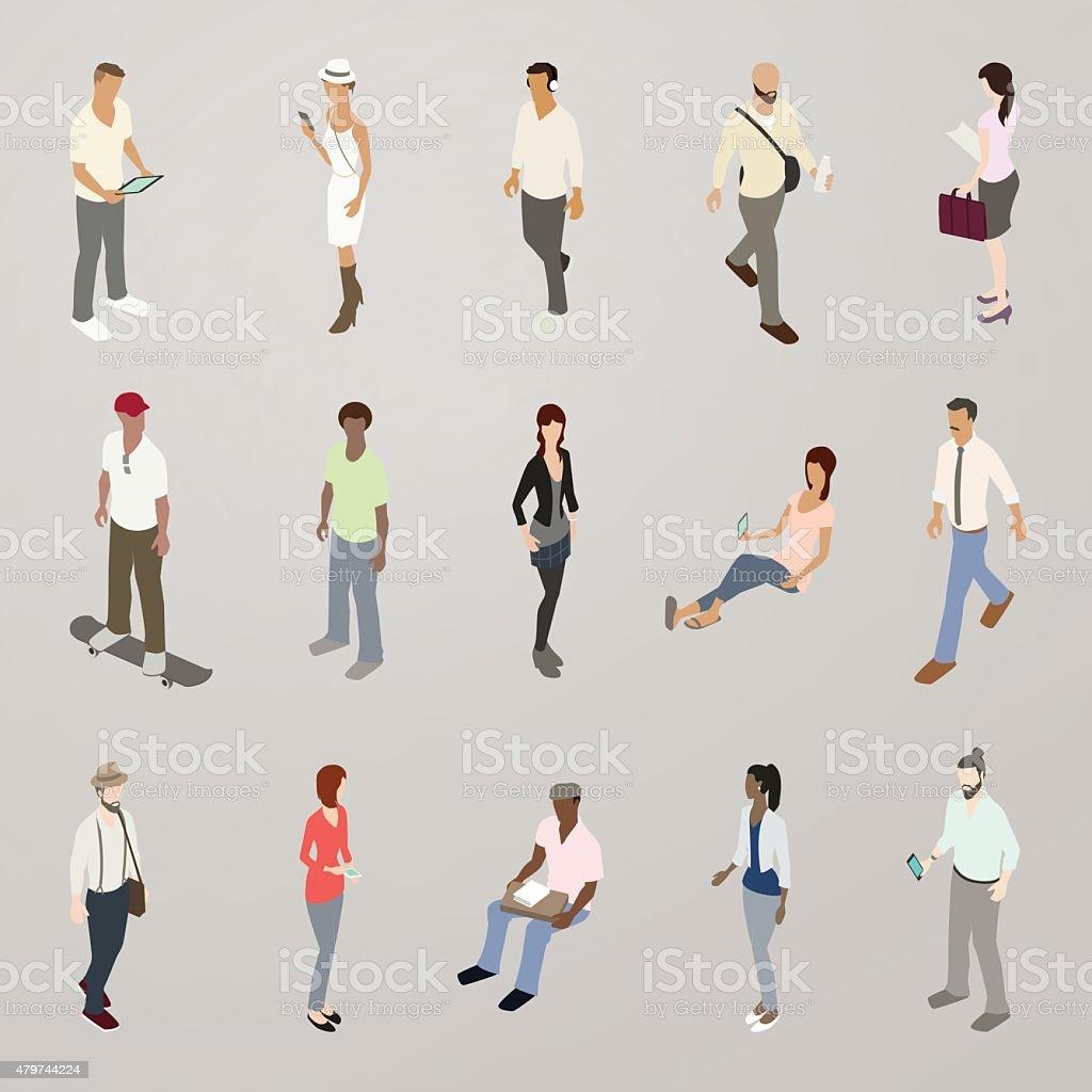 Millennials Illustration vector art illustration
