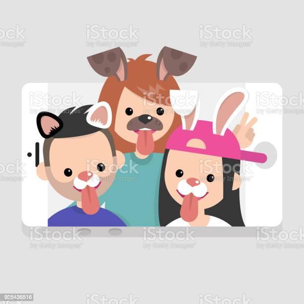 Millennials wearing animal masks international friends having fun vector id925436516?b=1&k=6&m=925436516&s=612x612&h=0dnpiwtneqaetxujhefpolrlmlgrrggqwfweeqqaosc=