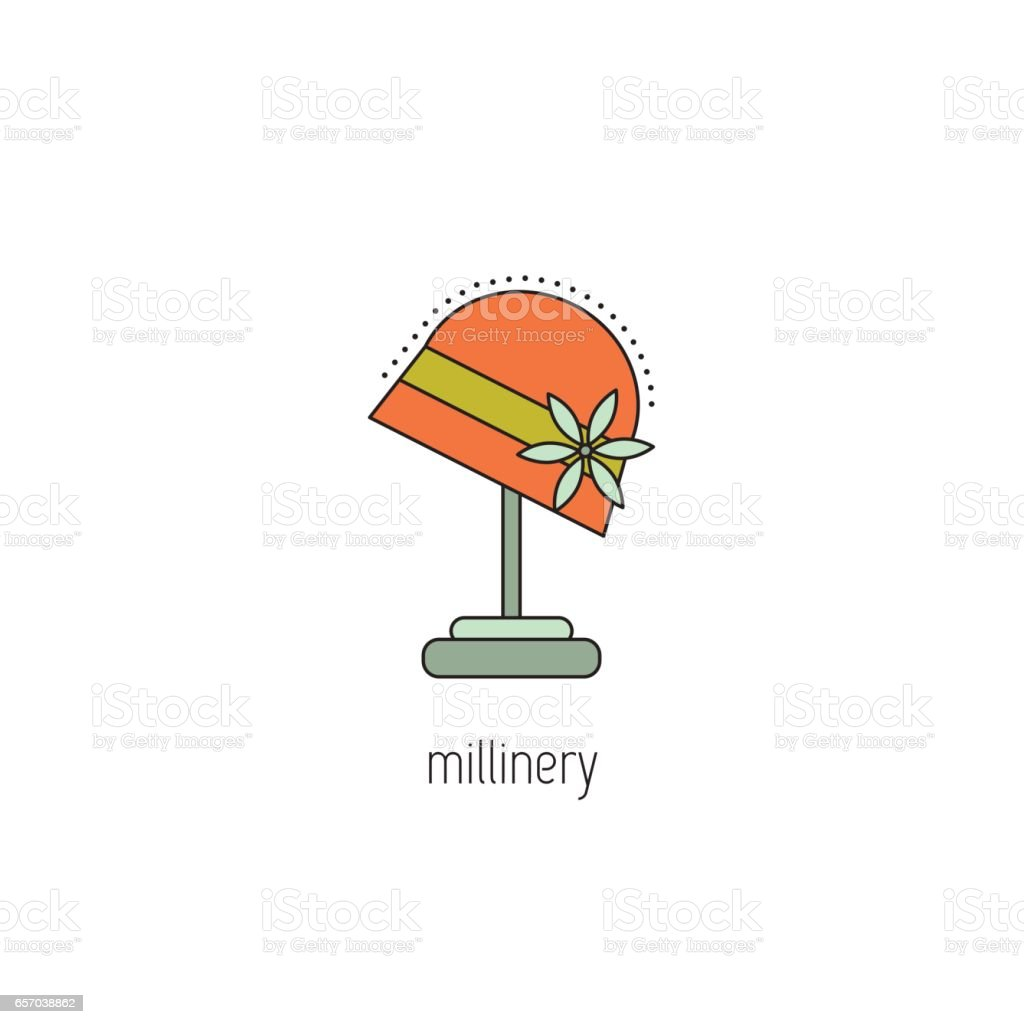 Millinery line icon vector art illustration