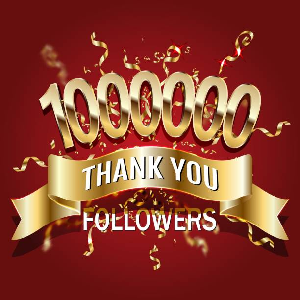 1 million followers thank you gold paper cut number illustration. Special user goal celebration for 1000000 social media friends, fans or subscribers. EPS10 vector. 1 million followers thank you gold paper cut number illustration. Special user goal celebration for 1000000 social media friends, fans or subscribers. EPS10 vector. millionnaire stock illustrations