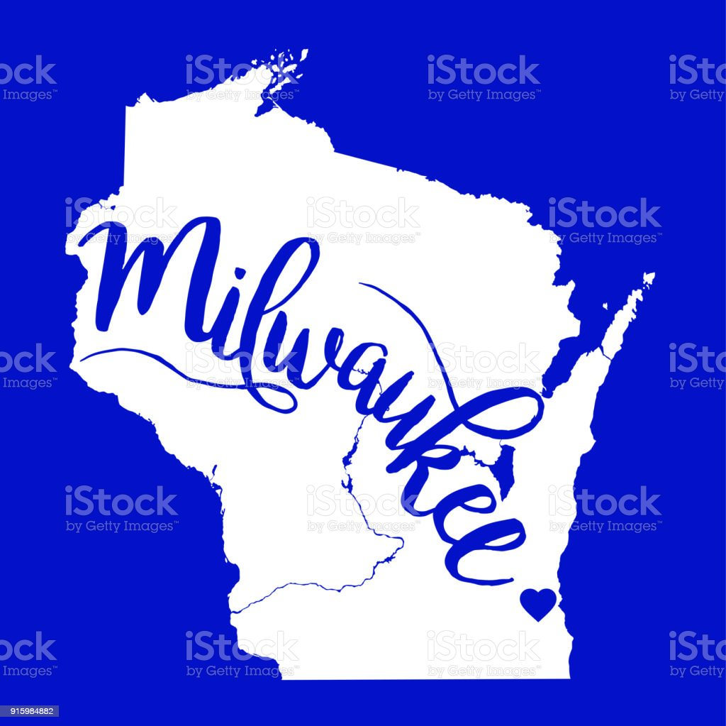 Milwaukee Wisconsin Eps10 Vector Map Stock Vector Art More Images