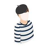 Mime isometric 3d icon
