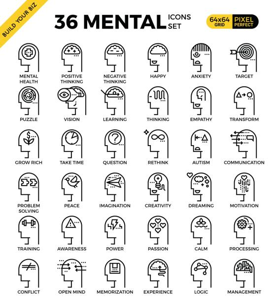 mind and mental - anxiety stock illustrations, clip art, cartoons, & icons