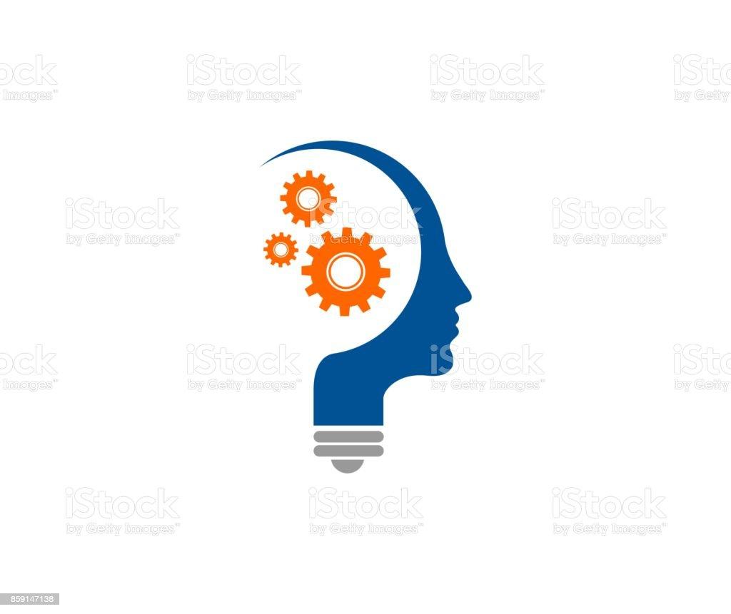 Mind icon vector art illustration