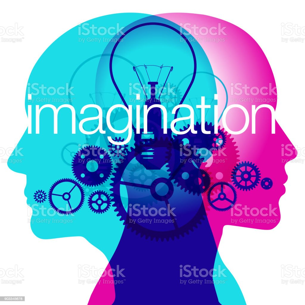 Mind imagination vector art illustration
