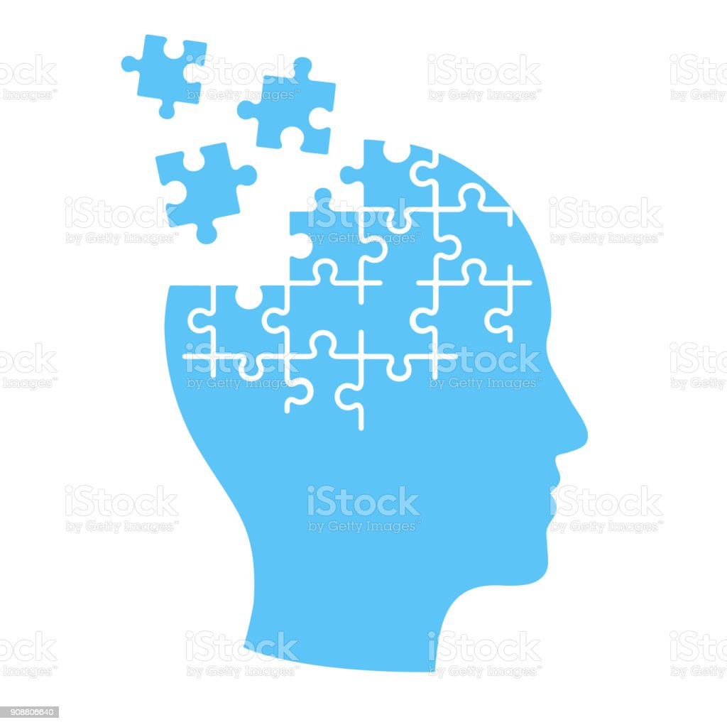 Mind jigsaw puzzle illustration. vector art illustration