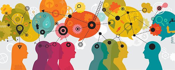 bildbanksillustrationer, clip art samt tecknat material och ikoner med mind mapping landscape - brain magnifying