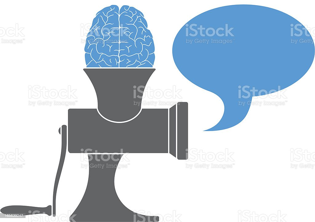 Mind mincers royalty-free stock vector art