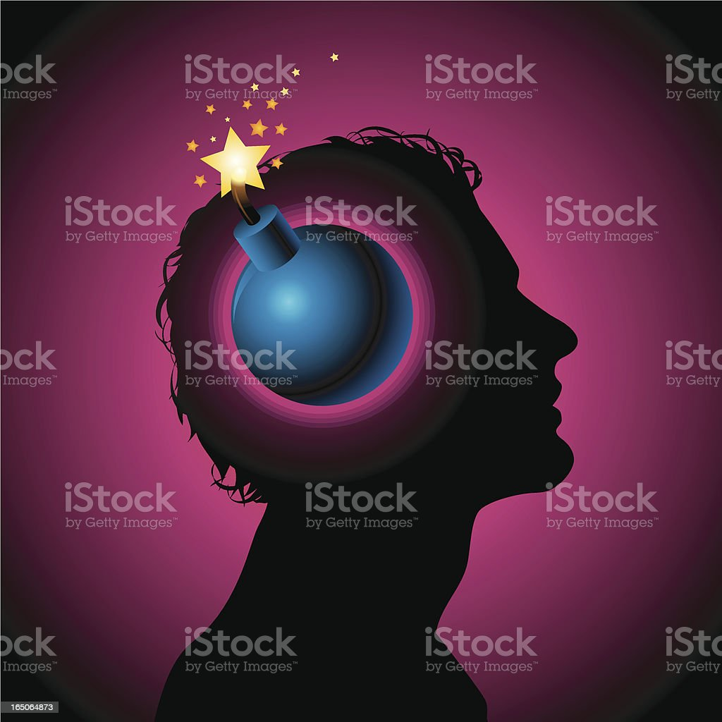 Mind my bomb royalty-free stock vector art