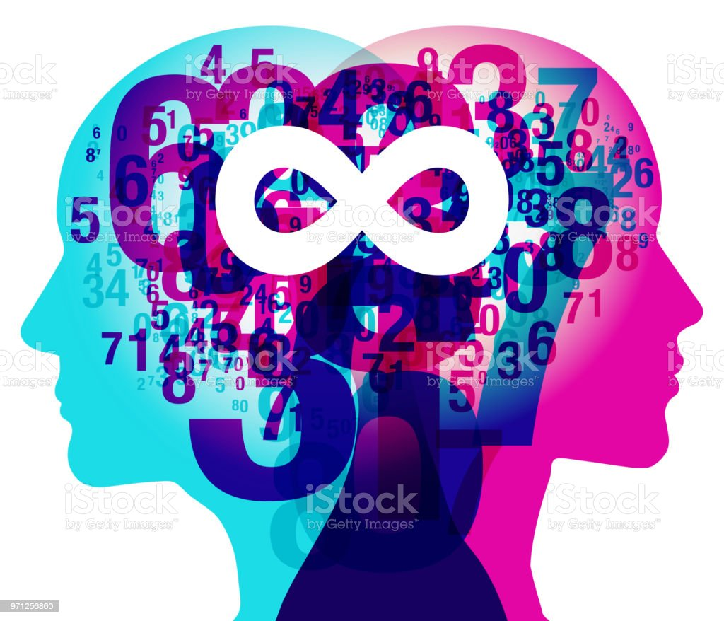 Mind Numbers Infinity Symbol Stock Vector Art More Images Of Adult