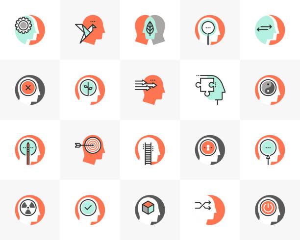 geist persönlichkeit futuro next icons pack - entspannungsmethoden stock-grafiken, -clipart, -cartoons und -symbole