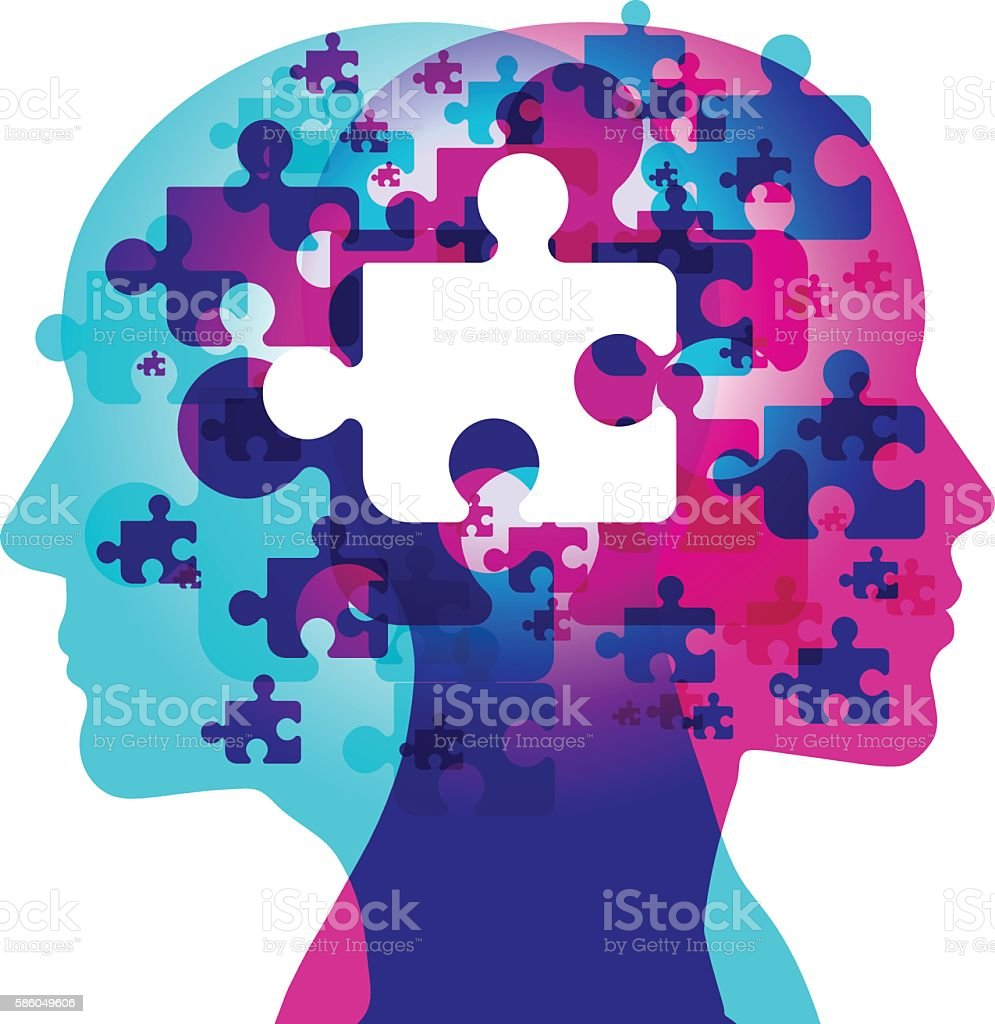 Mind Puzzle Missing Piece Royalty Free Stock Vector Art Amp