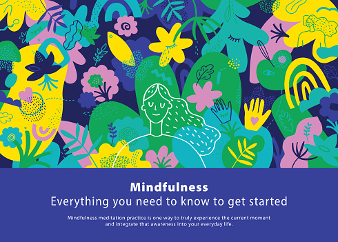 Mindfulness Vibrant Cover Template
