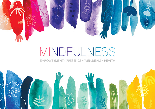 Mindfulness Watercolor Creative Abstract Background