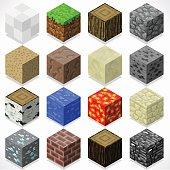 Mine Cubes 04 Elements Isometric