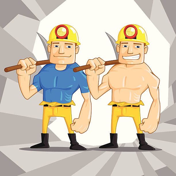 Mine Worker vector art illustration
