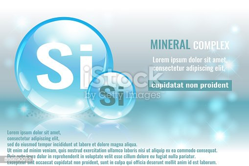 istock Mineral complex with chemical formula. 886690012