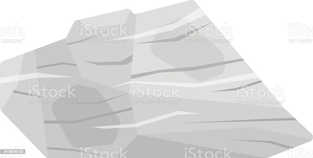 Mineral stone vector isolated vector art illustration