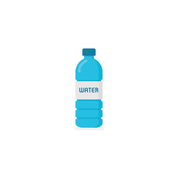 illustrations, cliparts, dessins animés et icônes de bouteille d'eau minérale. bouteille d'eau dans le plat style - bouteille d'eau