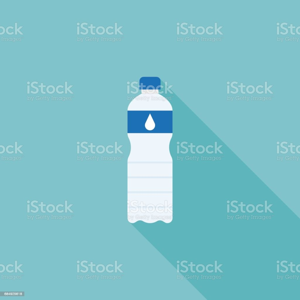 Mineral water bottle vector art illustration