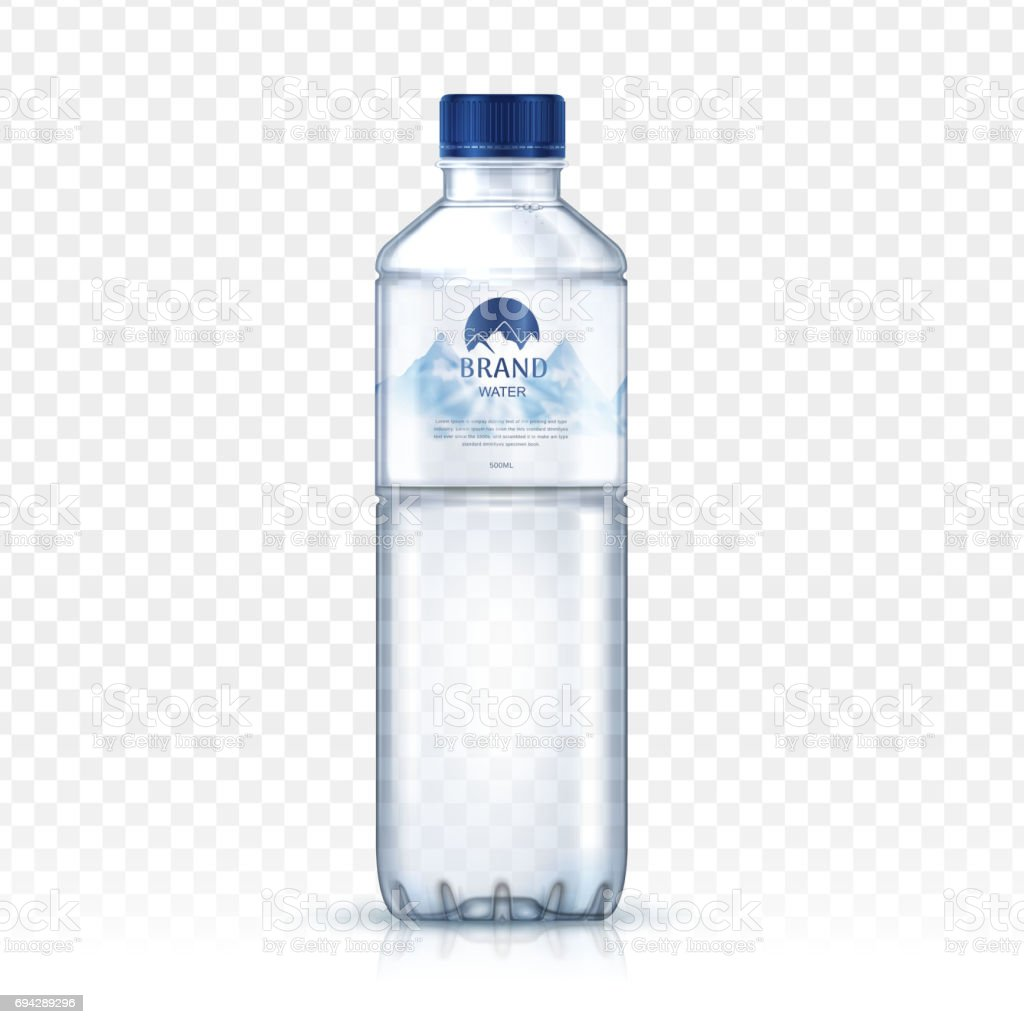 mineral water bottle vector art illustration