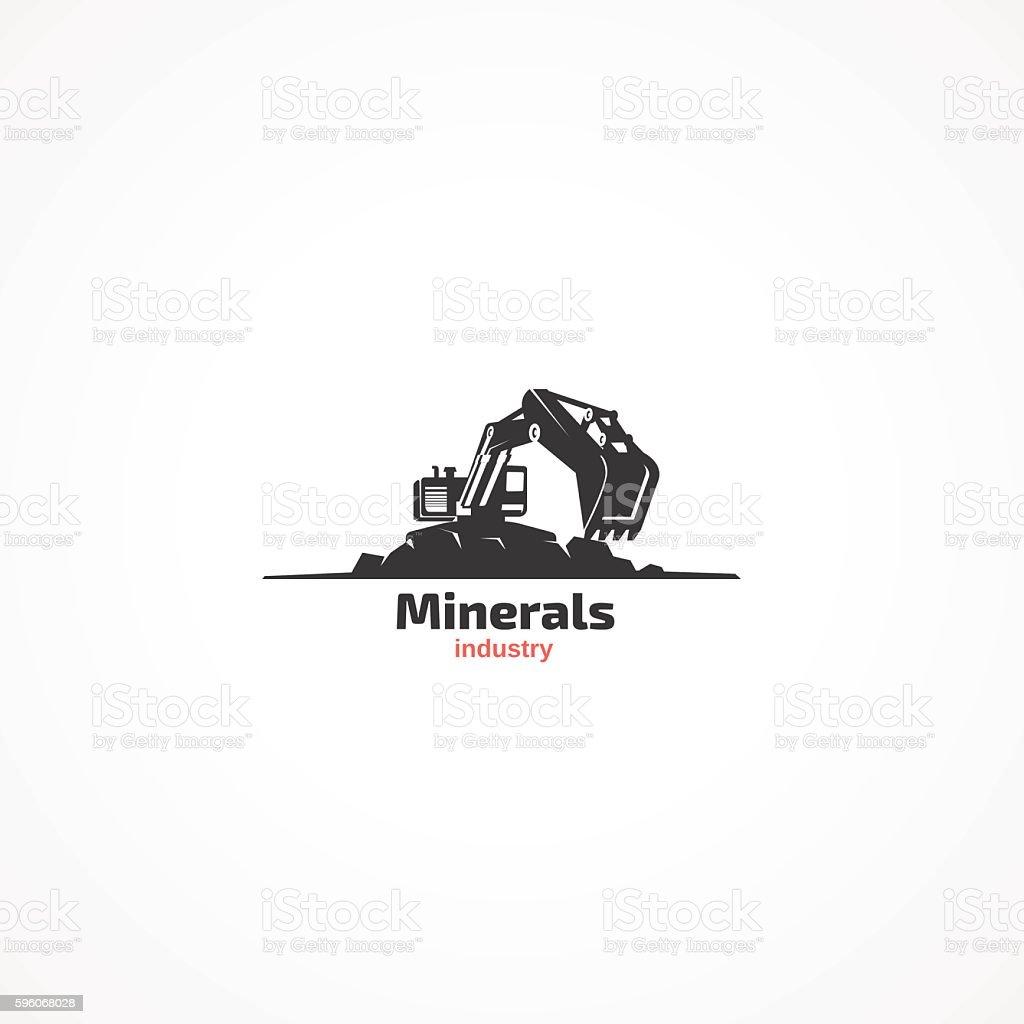 Minerals industry. – Vektorgrafik