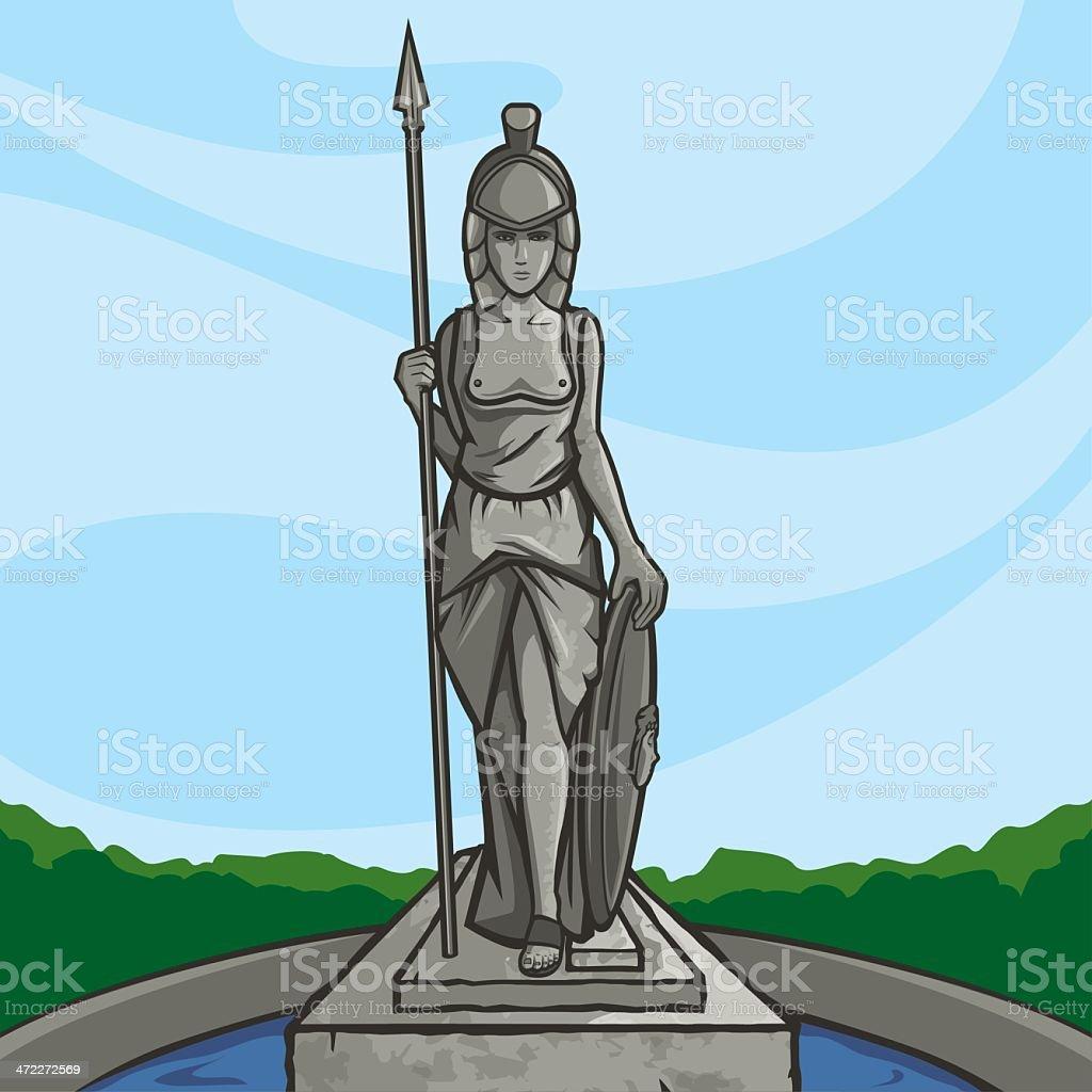 Minerva vector art illustration