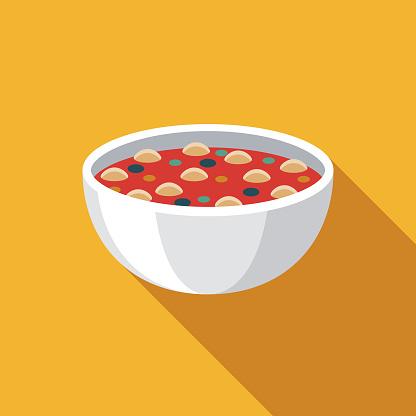 Minestrone Soup Italian Food Icon