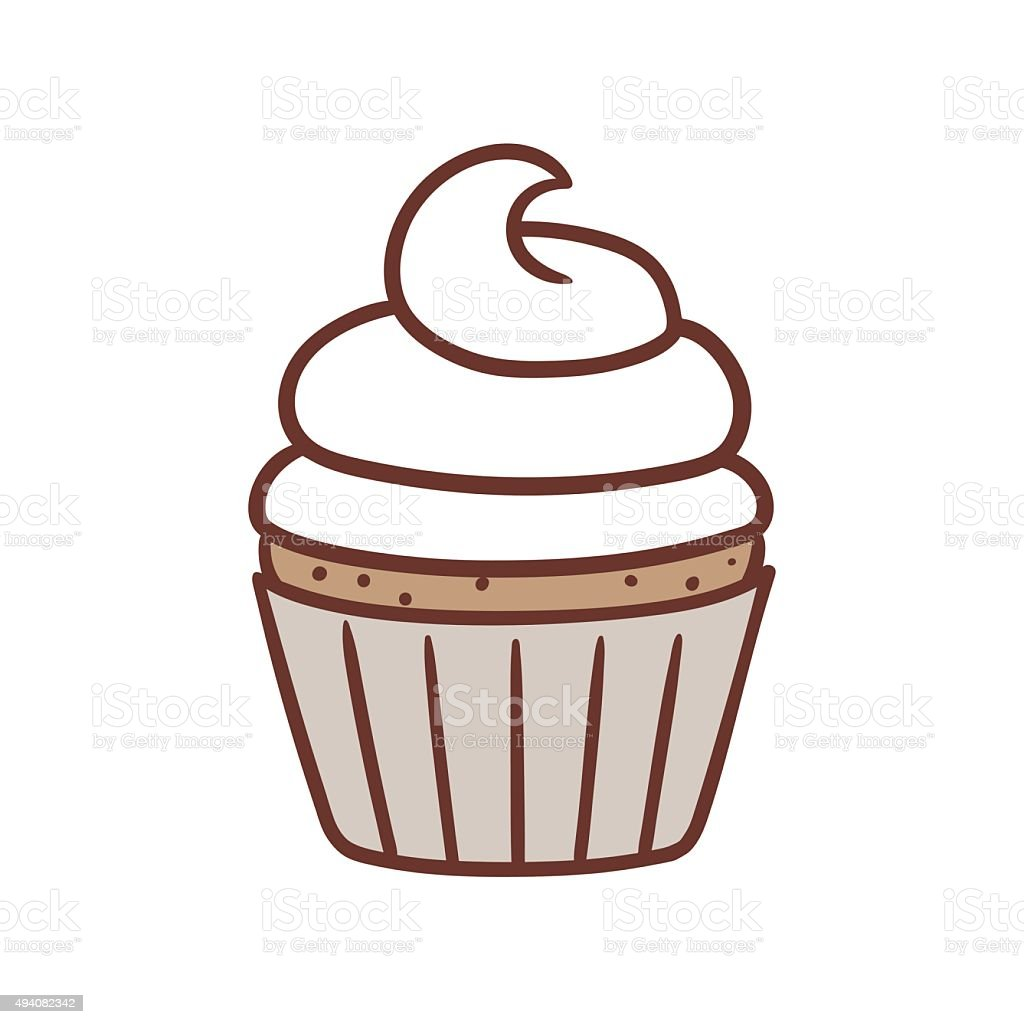 mini cake vector art illustration