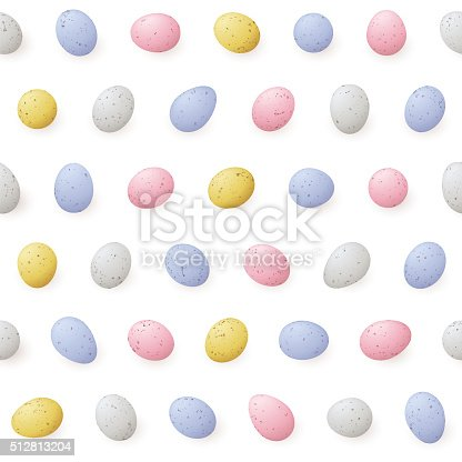 A brightly coloured seamless miniature easter egg pattern. This repeating pattern is perfect for your easter design project and the vector file can be scaled to any size without loss of quality.