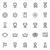 Mini Icon set – award icon vector illustration