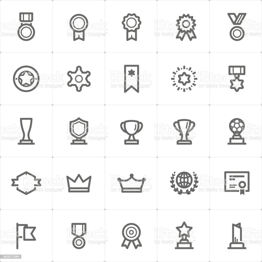 Mini Icon set – award icon vector illustration vector art illustration